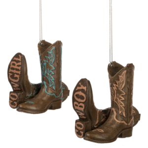 Cowboy or Cowgirl Boots with word on sole