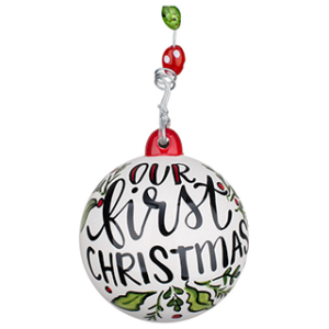 Our 1st Christmas Glory Haus ceramic ornament
