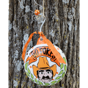 pistol pete ceramic puff ornament