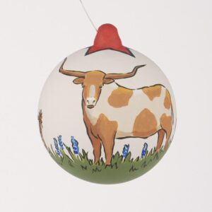 longhorn ornament by glory haus