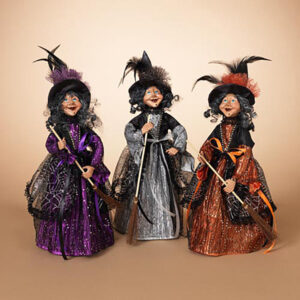 fabric witch figurines