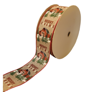 "Christmas Barn Ribbon - 2.5"" x 50 yards"