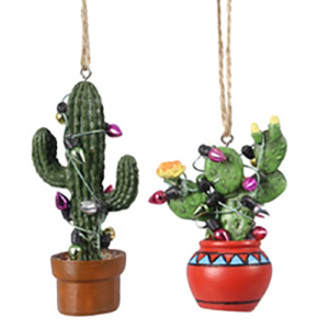small potted cactus ornaments