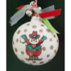 Cowboy Santa Ceramic Ornament