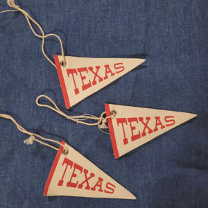Texas pennant ornaments