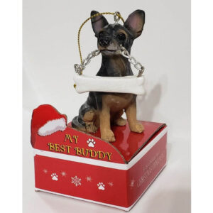 black Chihuahua ornament