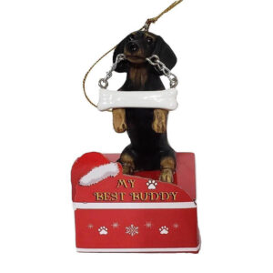 Black Dachshund ornament