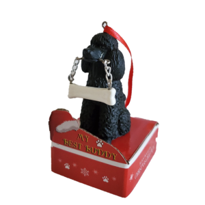 black Poodle ornament