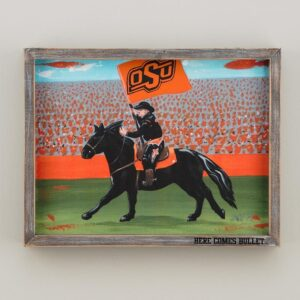 Oklahoma State framed canvas