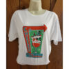 mid-century cocktail Christmas t-shirt with snow couple