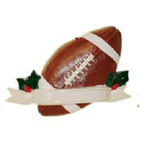 football ornament with banner