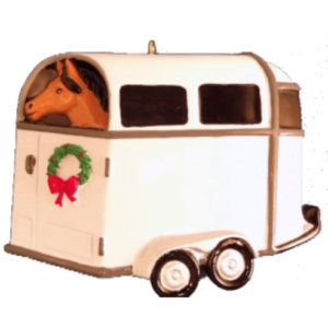 horse trailer ornament