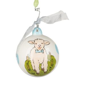 blue baby lamb ornament by Glory Haus