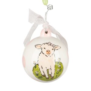 pink baby lamb ornament by Glory Haus