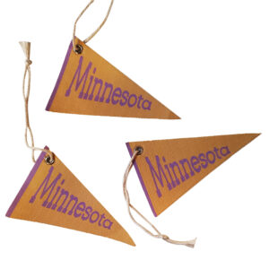 Minnesota pennant ornaments