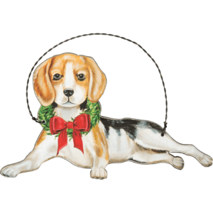 wooden beagle ornament