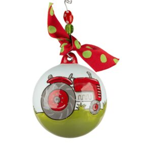 red tractor ornament by Glory Haus
