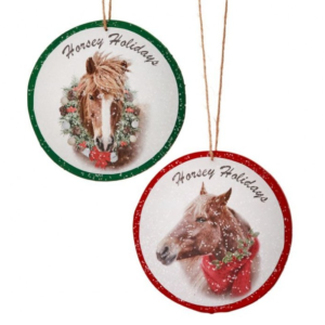 Horsey Holidays ornaments