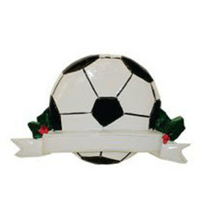 soccer ornament with banner