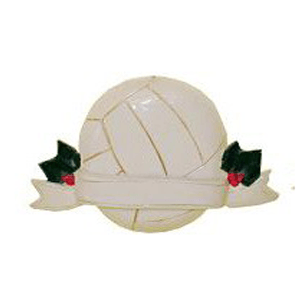 volleyball ornament with banner