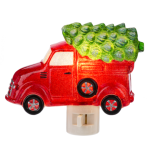 red truck with tree nightlight