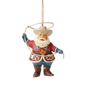 Heartland Creek Texas Santa ornament by Jim Shore