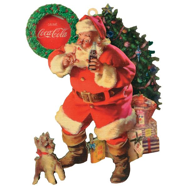 Coca-Cola Santa Ornament - Shhh