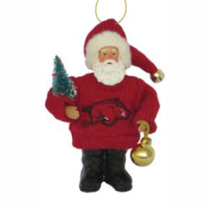 Arkansas Santa Ornament