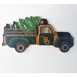 Wood Baylor Truck Ornament