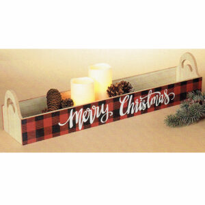 Buffalo Plaid Merry Christmas Wood Box