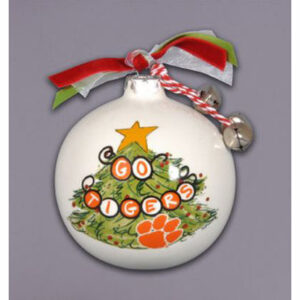 Ceramic Clemson Ornament-Tree