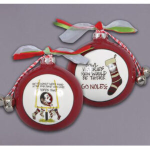 Ceramic Florida State Ornament-Stockings