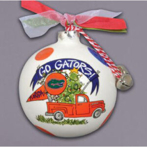 Ceramic Florida Ornament-Truck