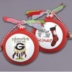 Ceramic Georgia Ornament-Stockings
