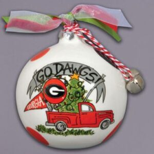 Ceramic Georgia Ornament-Truck