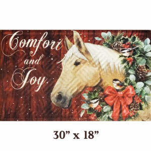 Embossed Christmas Horse Mat