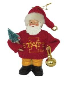 Iowa State Santa Ornament