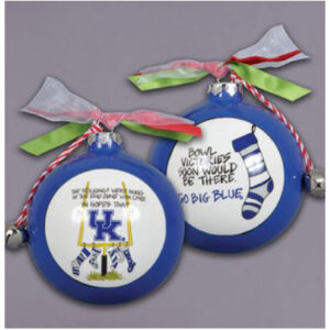 Ceramic Kentucky Ornament-Stockings
