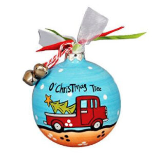 O Christmas Tree red truck ceramic ornament by Magnolia Lane