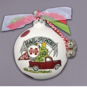 Ceramic Mississippi State Ornament-Truck
