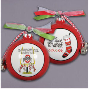 Ceramic Ohio State Ornament-Stockings