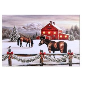 Pasture with Quarter Horse LED Canvas