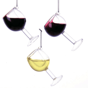 wine glass ornaments