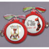 Ceramic Texas Tech Ornament-Stockings