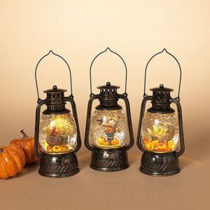 Harvest Lighted Spinning Water Globe Lantern