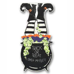 Witch Burlap Decor With Stand