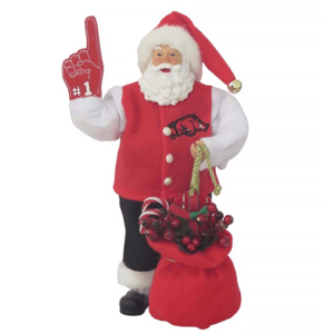 University of Arkansas Santa with foam finger