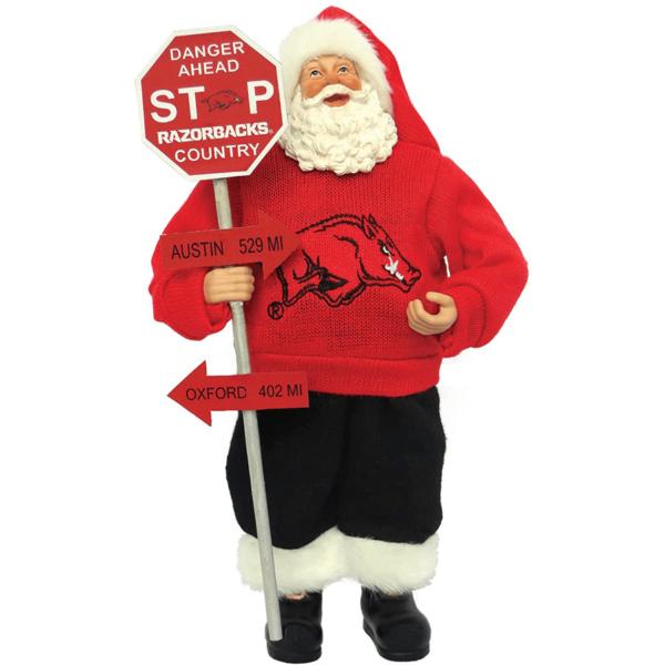 Collectible Arkansas Santa with sign