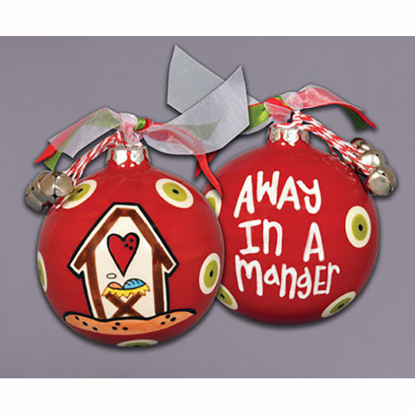 Away In A Manger Ceramic Ornament