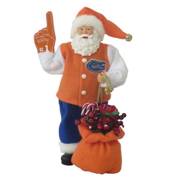 "University of Florida Santa with ""foam"" finger"